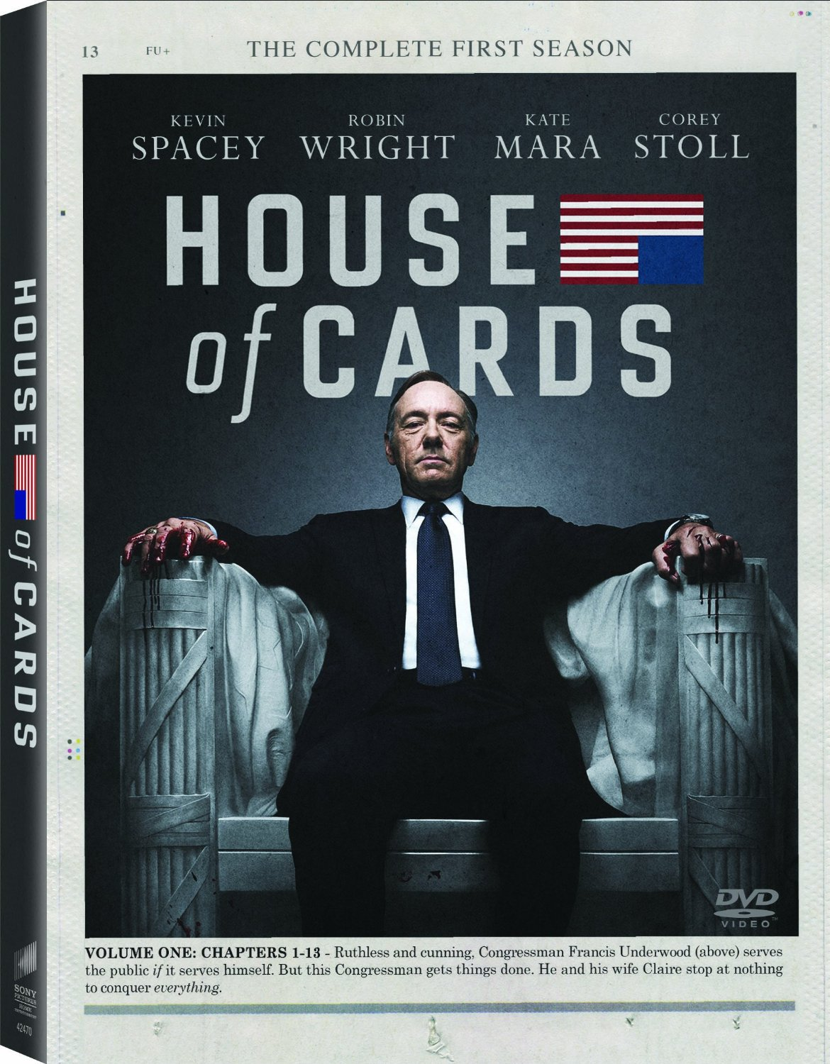 House of cards 시즌1(DVD) : The complete first season image